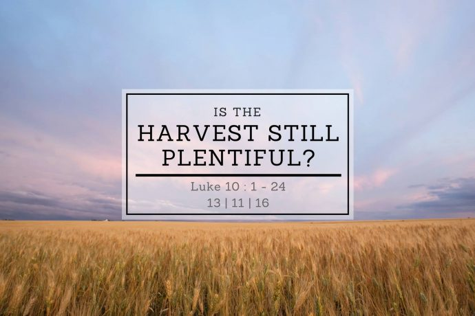 Is the Harvest Still Plentiful?