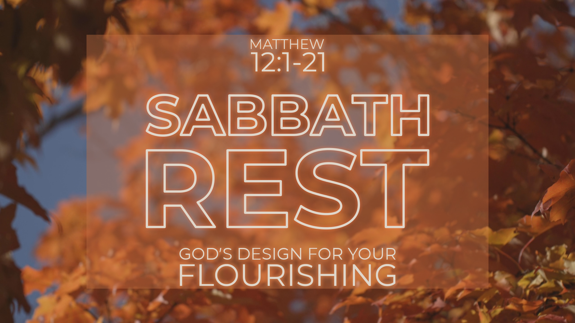 Sabbath Rest: God's Design for Your Flourishing