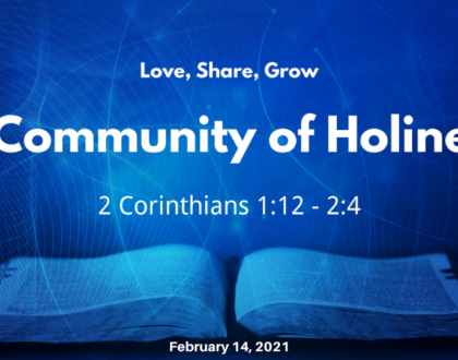 A Community of Holiness
